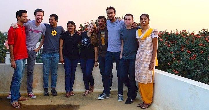 Arun with Mapbox team in Jan 2015