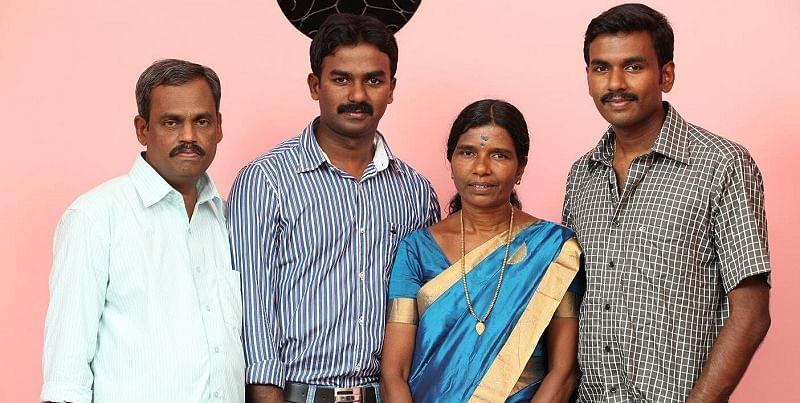 Jishnu with his family