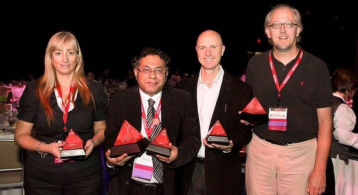 Sandipan with the Redhat awards