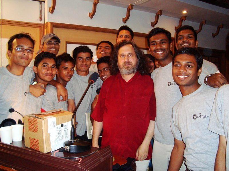 Jishnu with RIchard Stallman