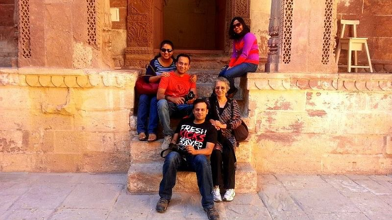 Ashish with his family