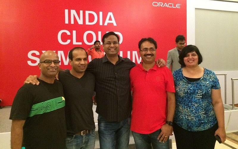Mitesh and his team at India Cloud Symposium