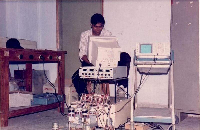 Mitesh in robotics lab