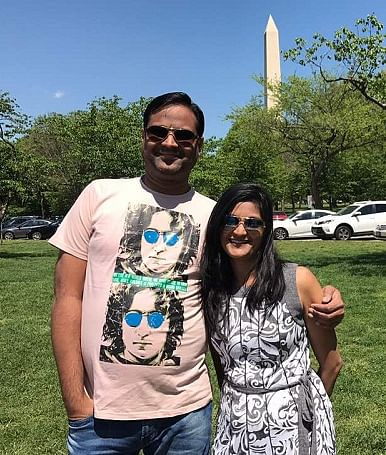 Mitesh with his wife