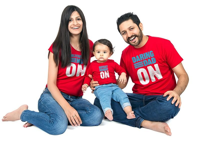 Niharika and Puneet with their Daughter Neev