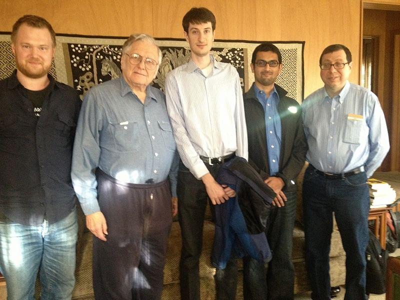 Viral, Alan, Jeff, Stefan with Prof. Kahan