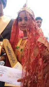 bride with bat