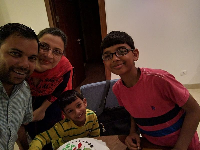 Ajey with his family