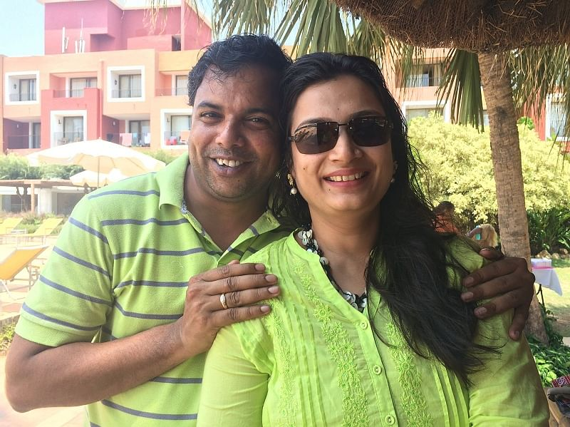Ajey with his wife Shraddha