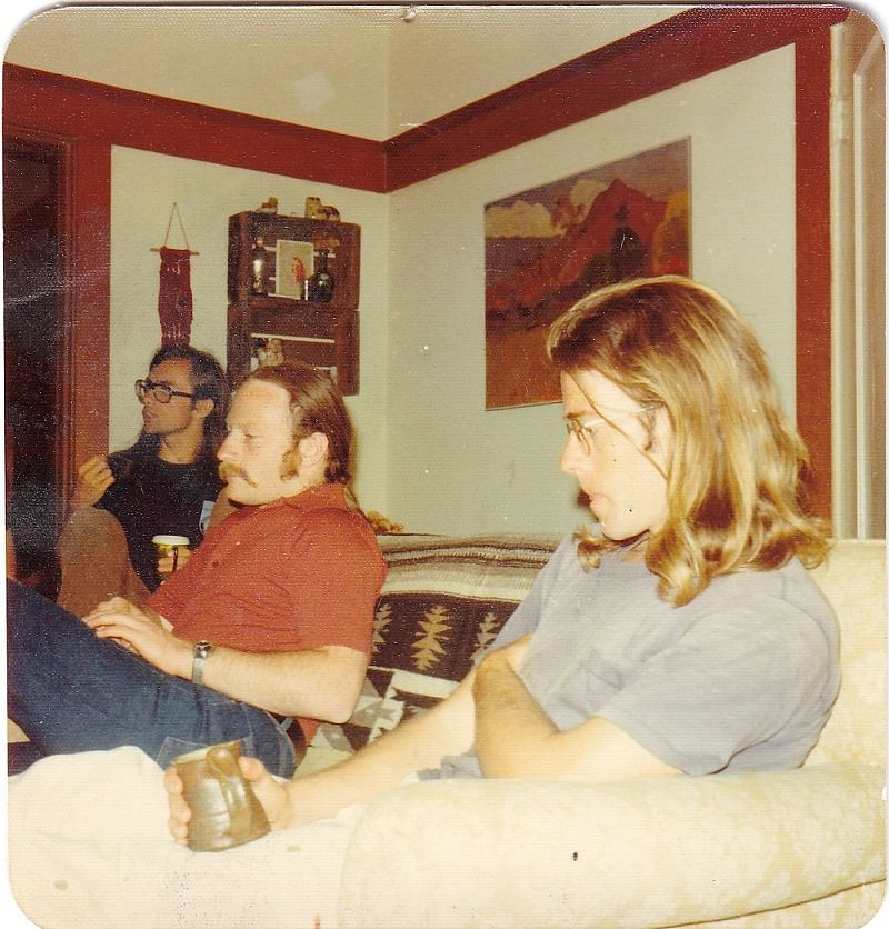 From left, K, my partner in Structured Systems Group, my first company, me, Nathanial Carleton, a staff programmer. Circa 1979.