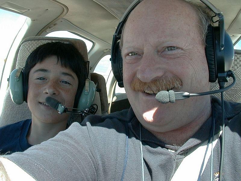 Scott and Alan flying
