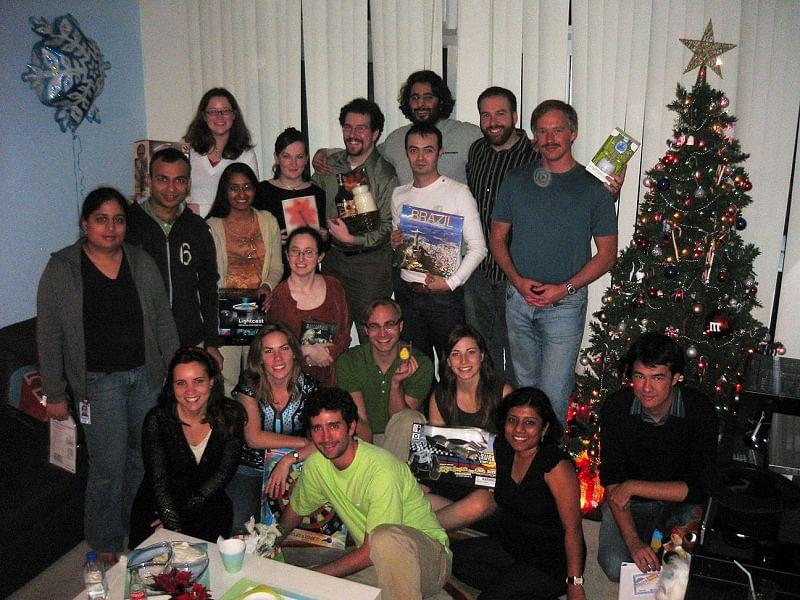 orkut.com team at Christmas