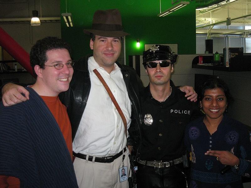 orkut.com team during halloween
