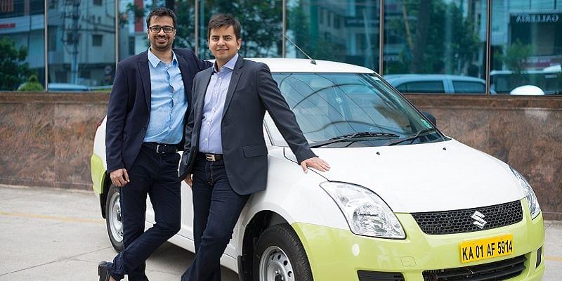 Ankit Bhati (CTO) with Bhavish Aggarwal (CEO), Ola.