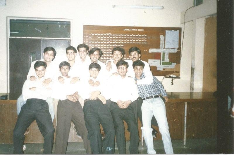 Ashish with his friends at IIT Jwalamukhi House