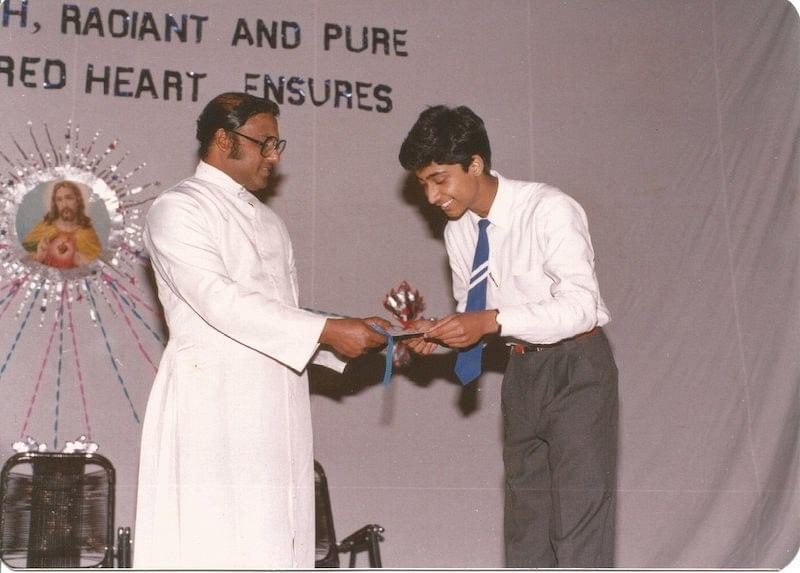 Ashish during a School Award ceremony