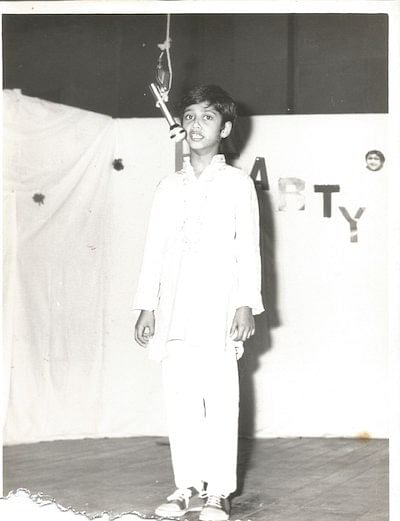 Ashish performing during his school days