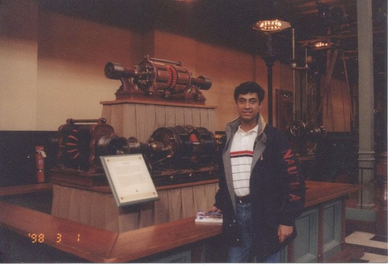 Ashish with Smithsonian first generator