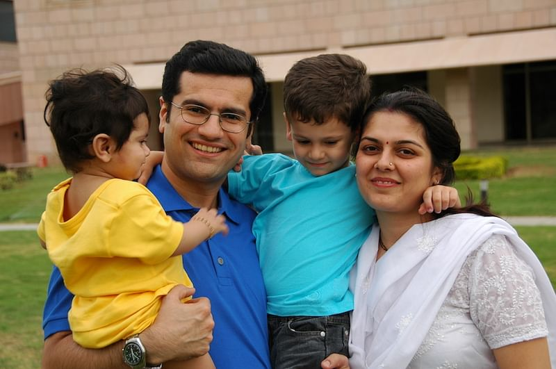 Ujval with his family