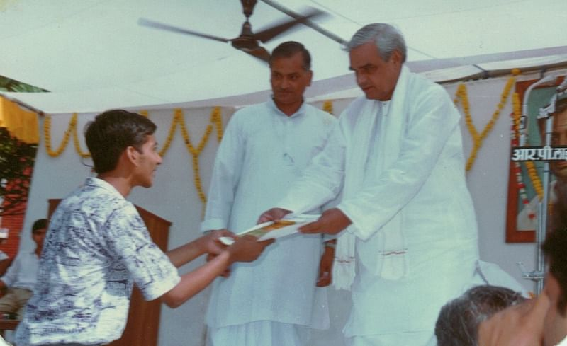 I earned a rank in UP Board merit list... got a chance to receive prize from then leader of opposition. Must be Sep 1991