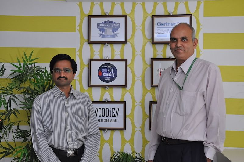 Milind with Ramani (Druva's co-founder)