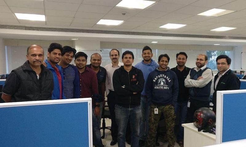 Milind with his team members at Druva