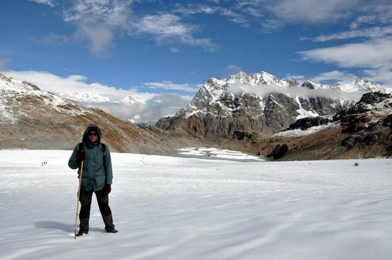 Satish at Mayali Pass