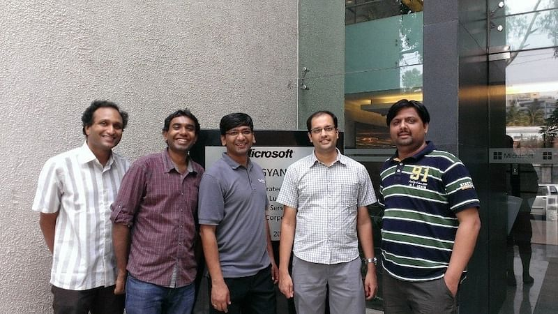 Satish with Microsoft Research Teammates