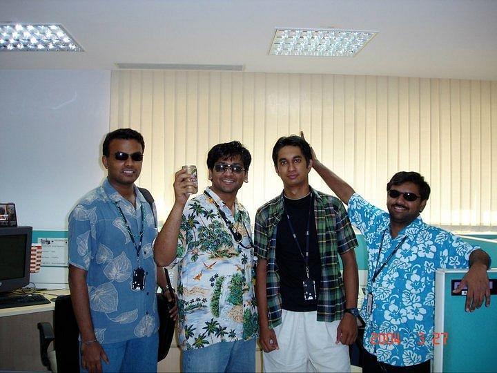 Satish with PurifyPlus team, 2004