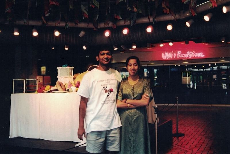 2001 | Satish with his then about to be wife at UW-Milwaukee