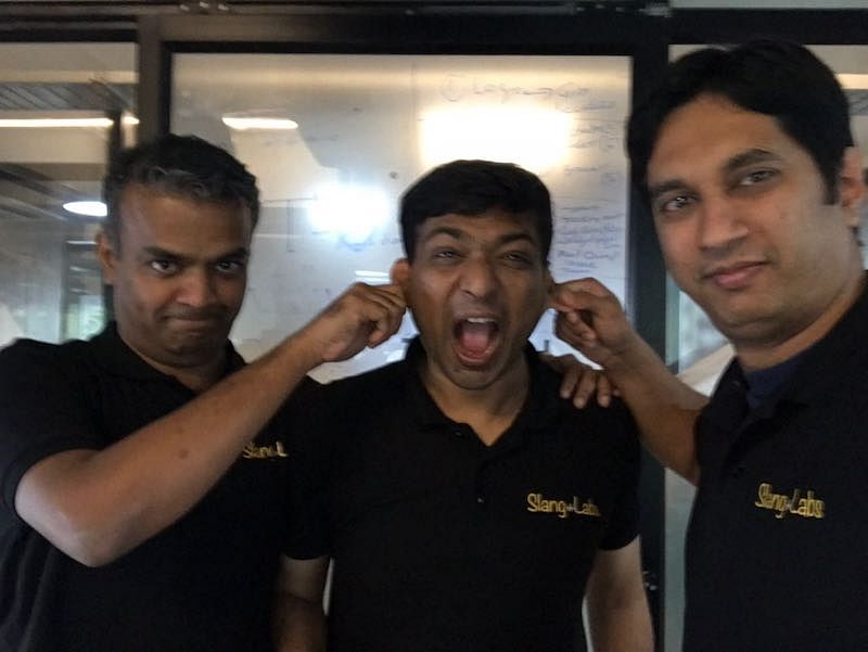 Slang Labs Co-founders Kumar Rangarajan, Satish Gupta, and Giridhar Murthy (L to R)