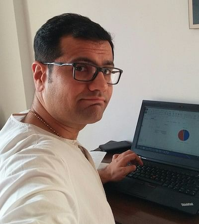 Ujval working from home