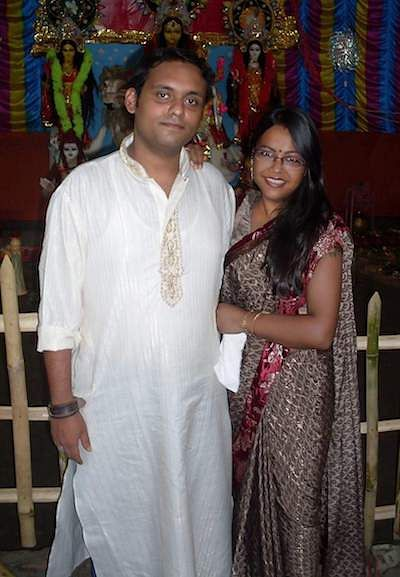 Priyadarshi with his wife in 2006