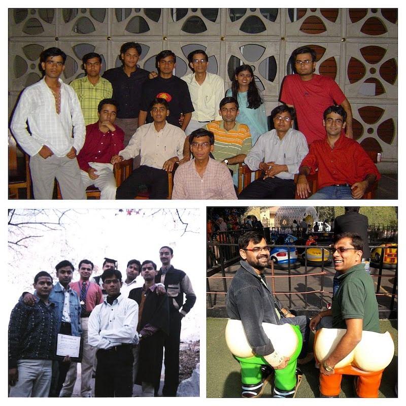 Prashant with his college best friend Taran