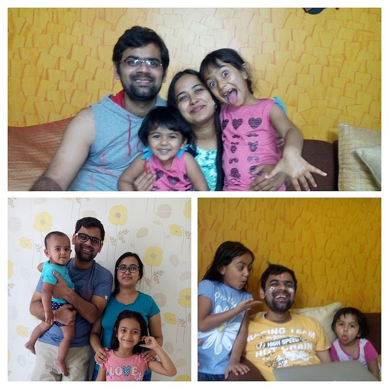 Prashant with his family