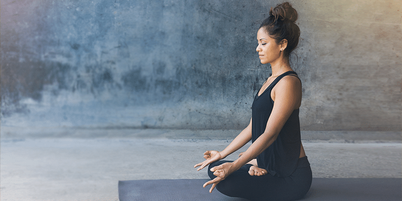 Quick yoga moves before you start your work