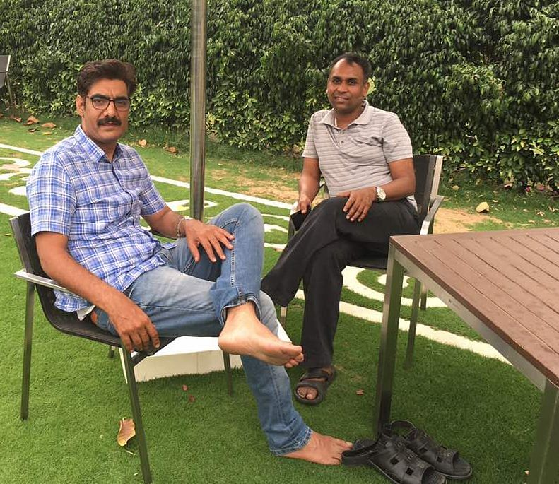 Anil at his home in Gurgaon