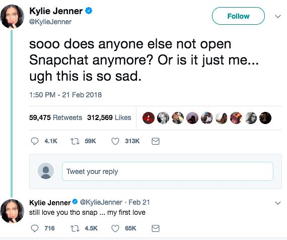 Aw Snap! One tweet by Kylie Jenner, and Snapchat loses $1 3 B in