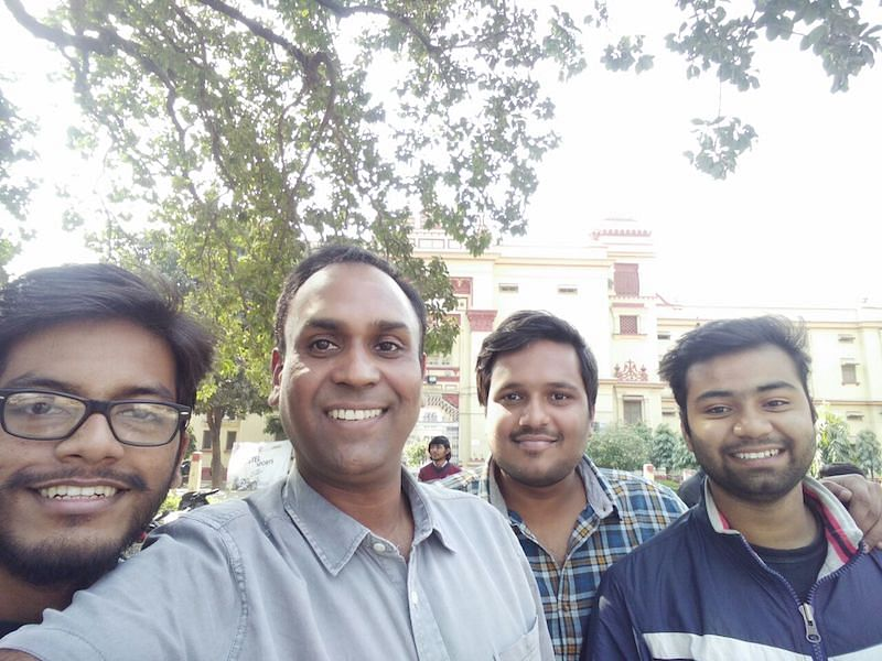 Anil with OYO 2018 hires at IIT-BHU