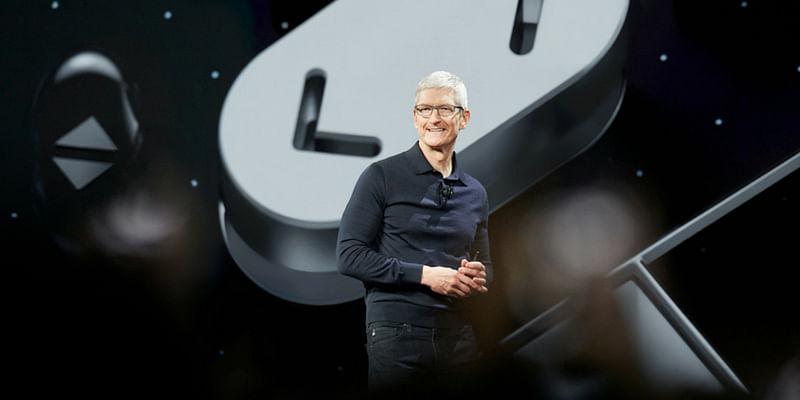 Apple CEO Tim Cook presenting