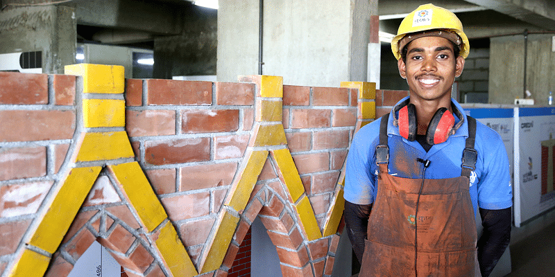A school-dropout, this construction worker represented India at the