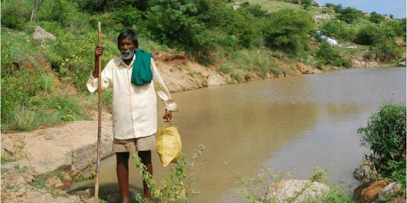 Meet the 82-year-old shepherd who built 14 ponds on a barren hill