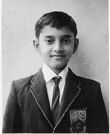 Anand during his school days