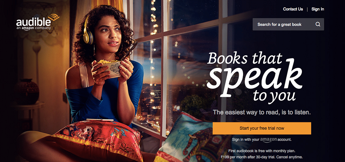 Amazon launches audiobook service Audible in India and here