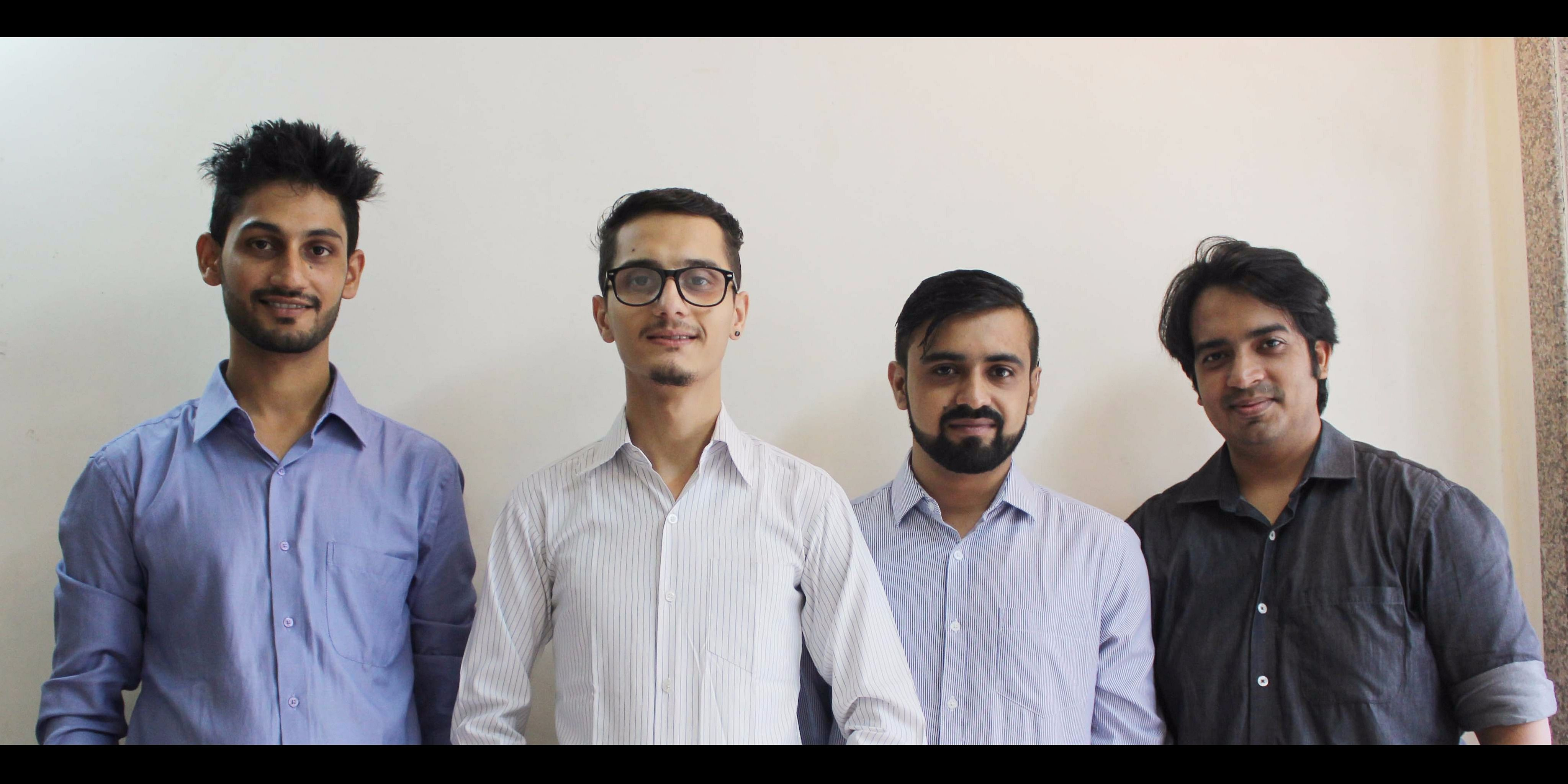 Search Workplace Core Members (from left to right): Rajat Bagree, Sandesh Subedi, Piyush Verma, Amey Patil