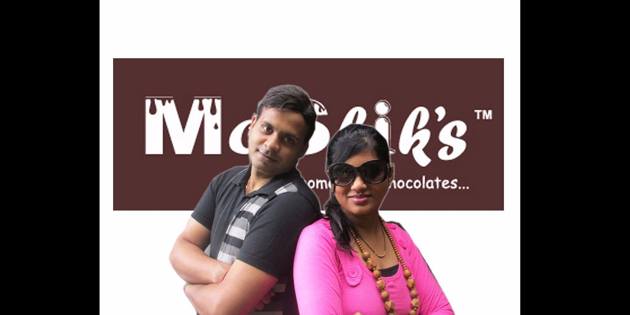 Founders of Moshik's <b>Mohit Kumar Jain and Shikha Jain</b>