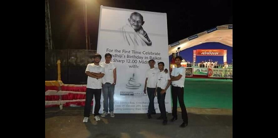 Midnightcake's First Team outside Ahmedabad - its Midnightcake Rajkot Team during its launch