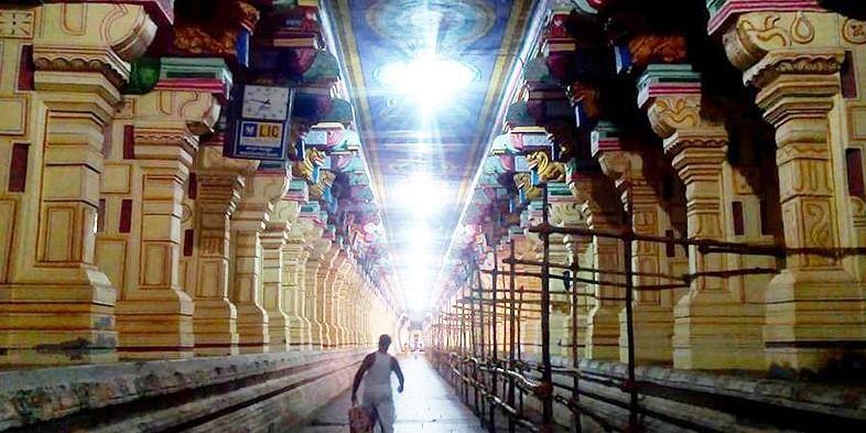 Figure 2 The hall of the thousand pillars, Rameshwaram Temple