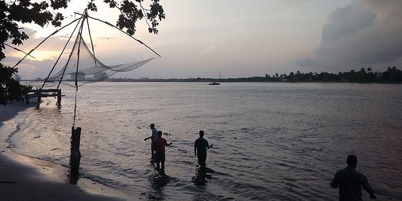 Chinese Fishing Nets on Fort Kochi Beach