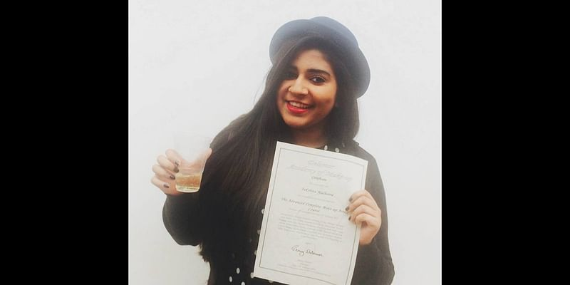 Takshita having done the 22 week advance makeup course from London